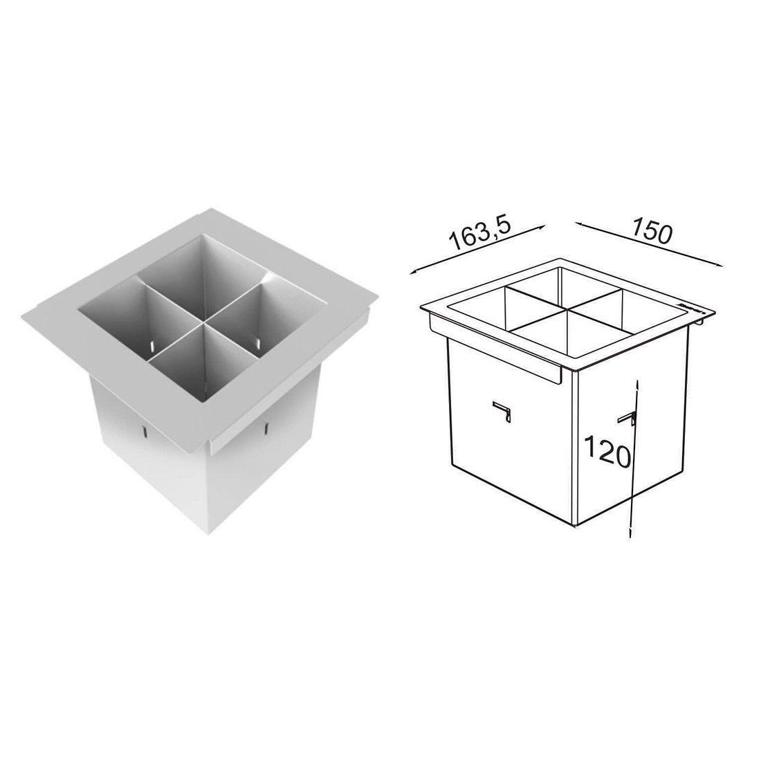 Porta Talheres Inox 15cm Debacco  - Sua Casa Gourmet e Cia