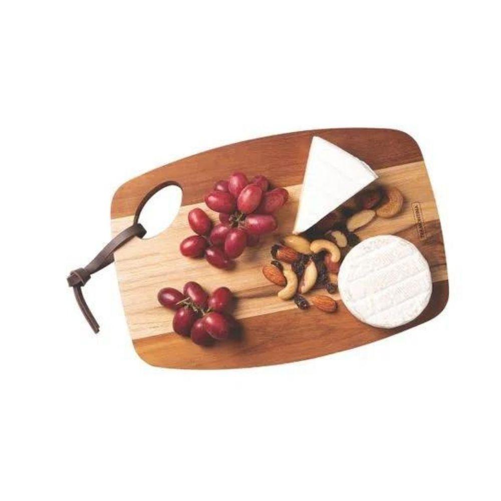 Tábua Retangular Arredondada Com Furo 35cm Tramontina  - Sua Casa Gourmet e Cia