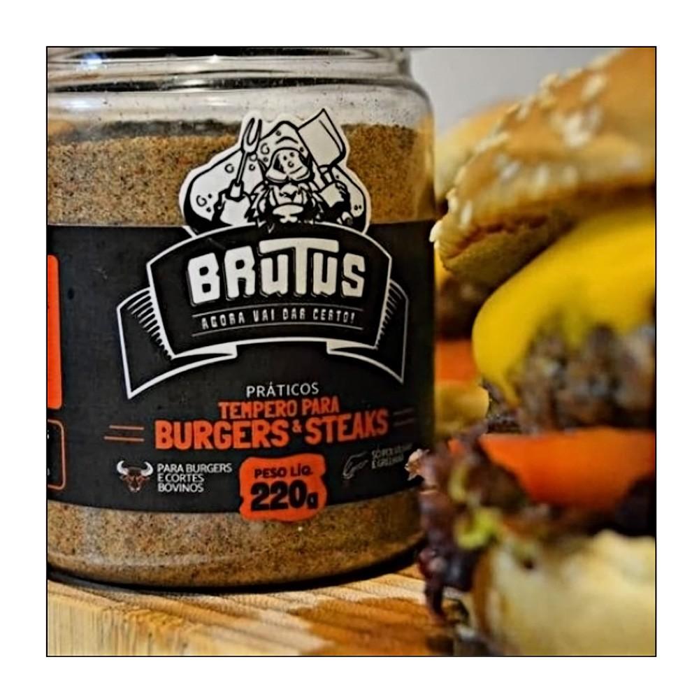 Tempero Para Burgers e Steaks 220g - Brutus  - Sua Casa Gourmet e Cia