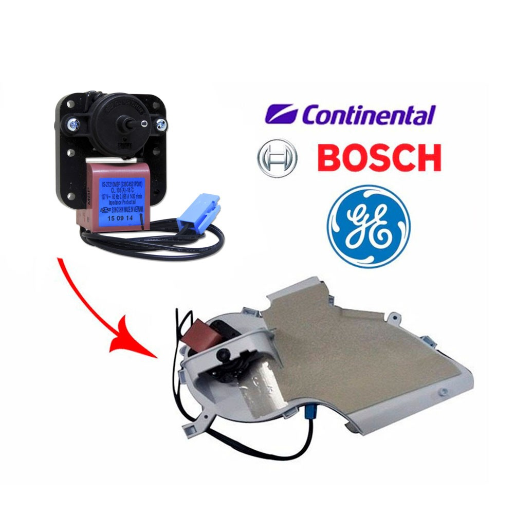 Motor Ventilador  Refrigerador Continental Bosch 127V Kdn44 Kdn46