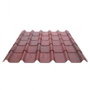 Kit Telha Ecológica Onduline Onduvilla 1,06X0,40m Vermelha Mesclada-10 peças