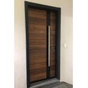 Porta de Segurança para Apartamento em Aço 0,80m 10 Pts Travamento Emek L-254 - Esquerda