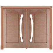 Portal de Entrada Pivotante 1 Almofada Vidro em Arco Casmavi
