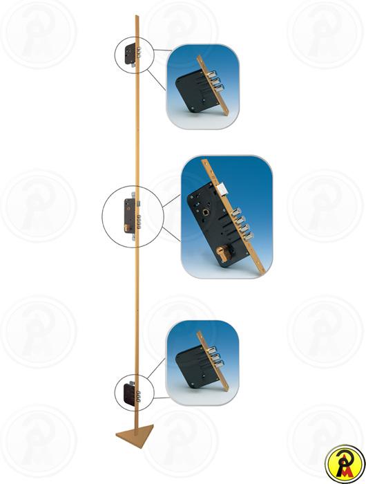 Fechadura de Alta Segurança Multiponto com Rolete sem Cilindro Mul-T-Lock