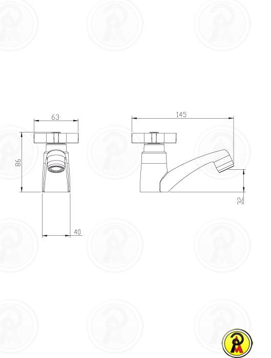 Torneira para Lavatório de Mesa Lorenzetti LorenClub 1194 C47