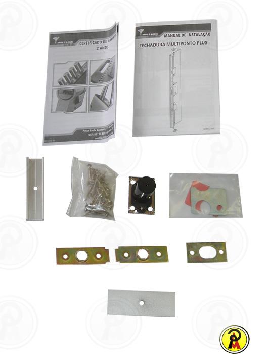 Fechadura de Alta Segurança Multiponto Plus com Lingueta sem Cilindro Mul-T-Lock  - Pinezi Compra Rápida