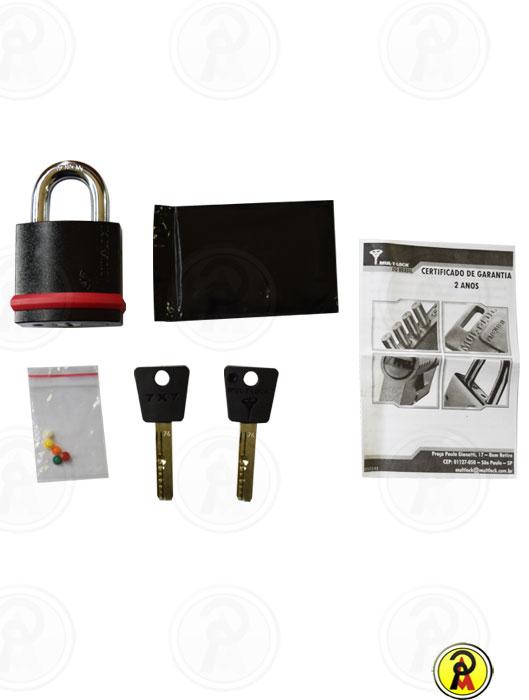 Cadeado de Alta Segurança NE 10G perfil 7x7 Mul-T-Lock