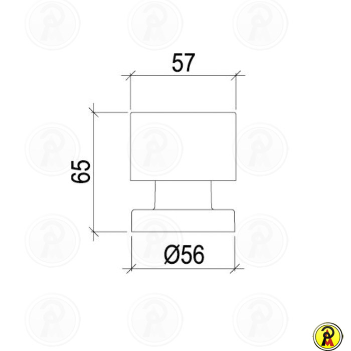Acabamento para Registro de Gaveta e Pressão Lorenzetti Elipse Mix 4901 C68