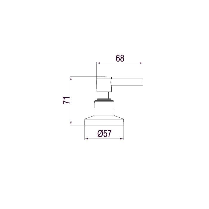 Acabamento para Registro de Gaveta e Pressão Lorenzetti LorenFit Slim 4901 C31