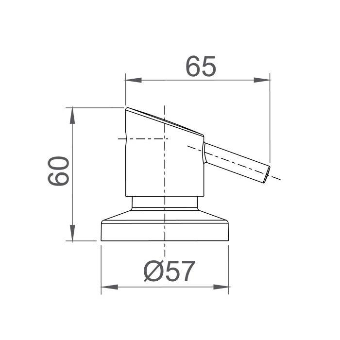 Acabamento para Registro de Gaveta e Pressão Lorenzetti Swan 4901 C42