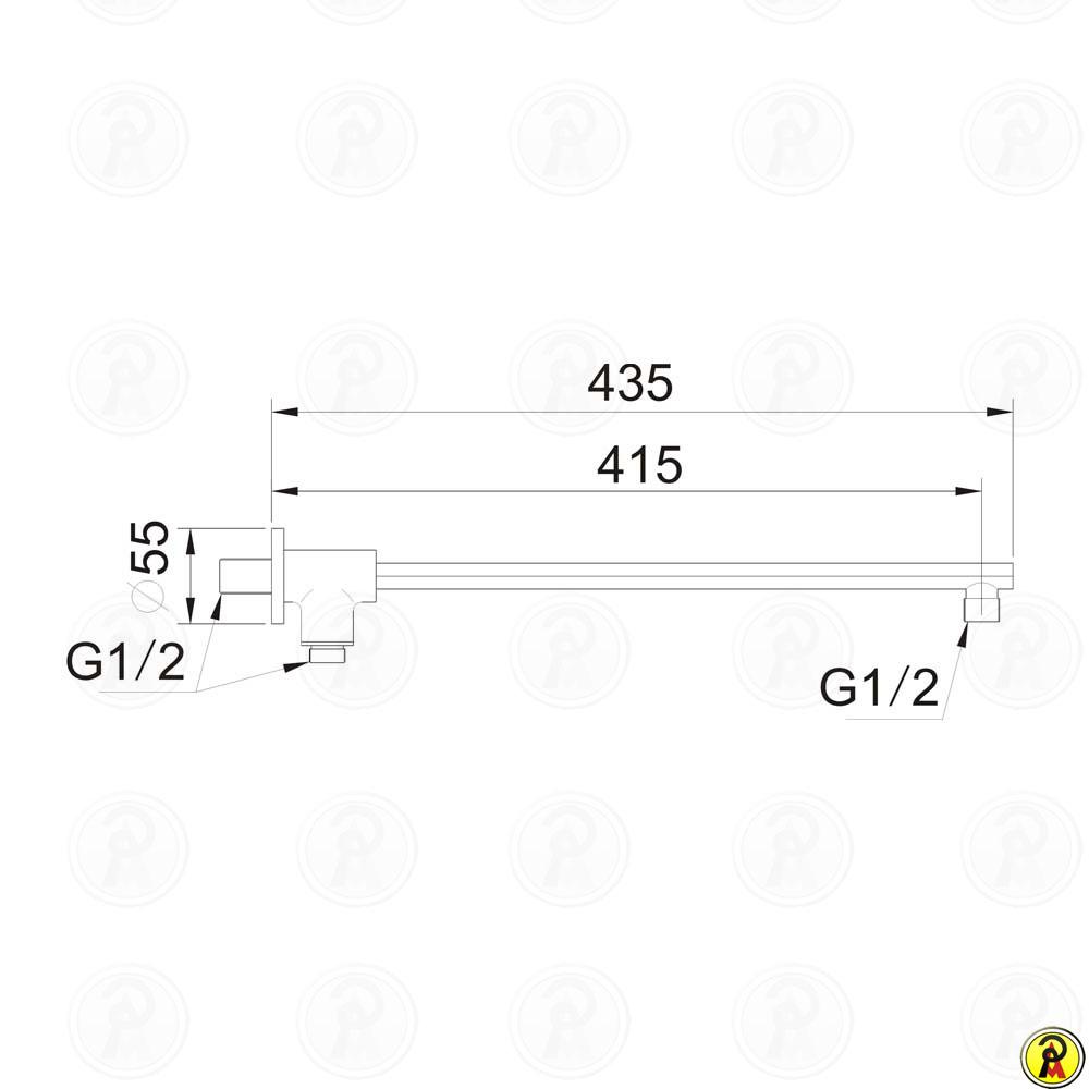 Braço de chuveiro (ELIPSE) Jiwi WJ-0301