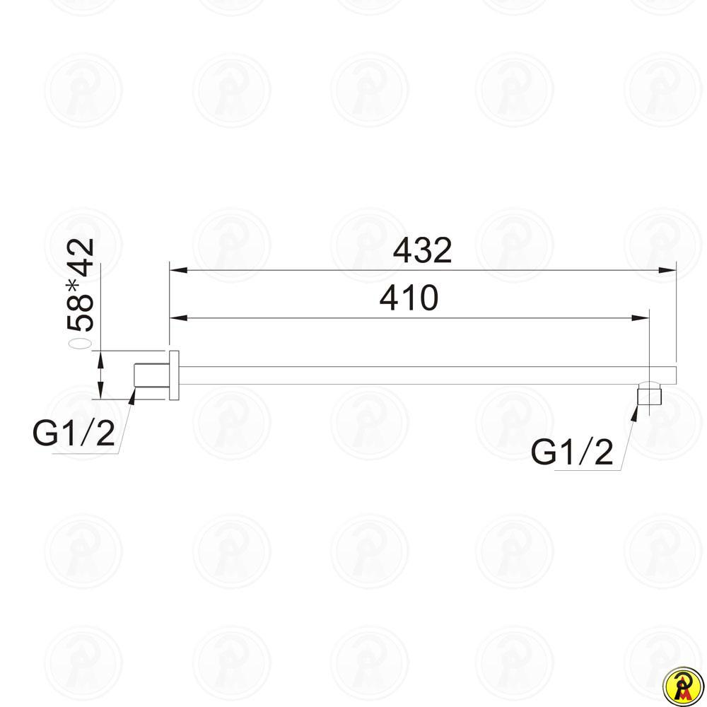 Braço de chuveiro (ELIPSE) Jiwi WJ-0305