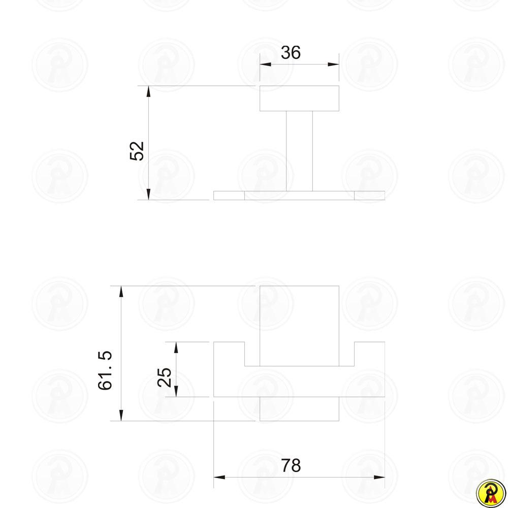 Cabide duplo para banheiro Jiwi WJ-2680
