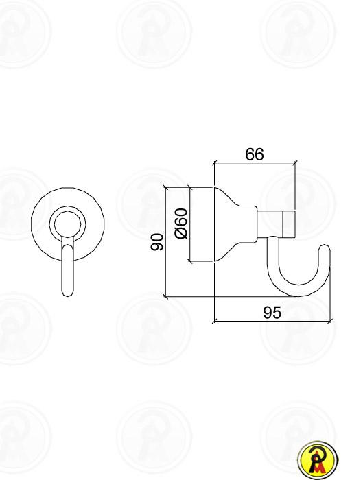 Cabide Lorenzetti Linus 2060 C40 - 50