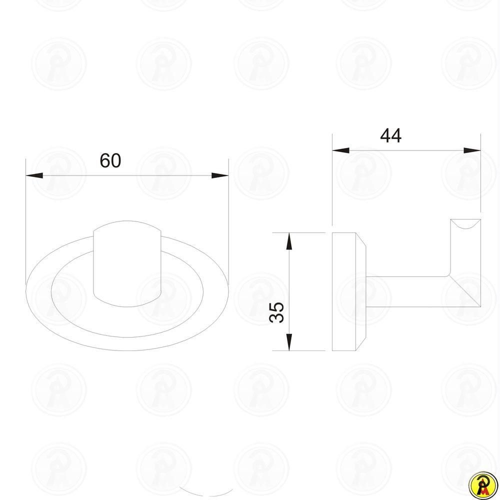 Cabide Simples Jiwi WJ-1280