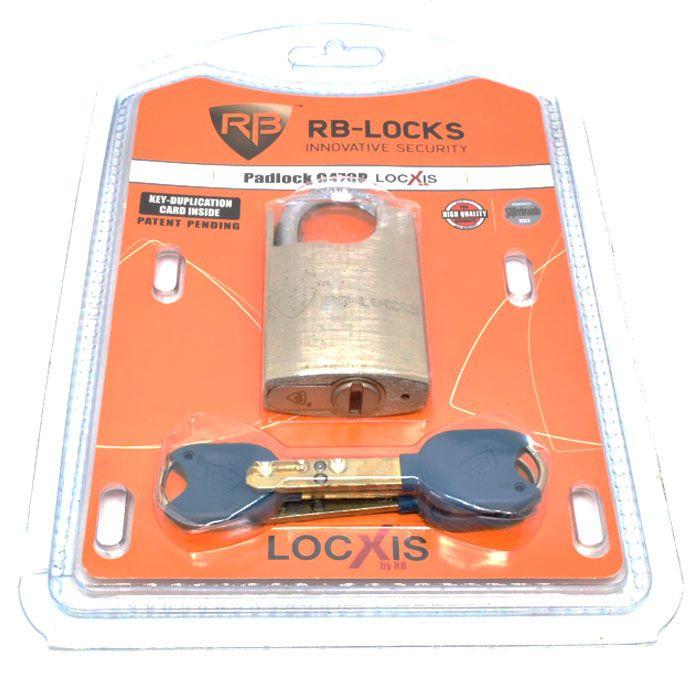 Cadeado de Alta Segurança com Protetor G470P RB Locks