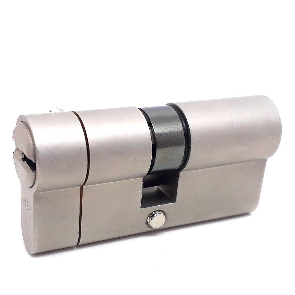 Cilindro Alta Segurança EURO 62 mm perfil 7x7 BS Cromado Mul-T-Lock