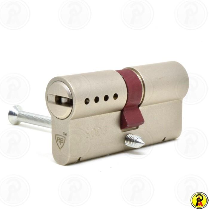 Cilindro de Alta Segurança EURO 62 (31x31 - Cromo Acetinado) RB Locks