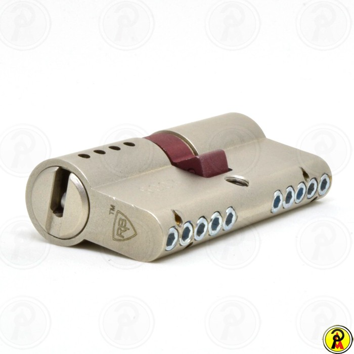 Cilindro de Alta Segurança EURO 62 (31 x 31 - Cromo Acetinado) RB Locks  - Pinezi Compra Rápida