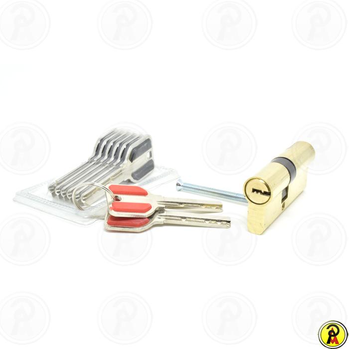Cilindro de Alta Segurança EURO 70 mm Dourado