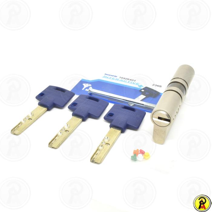 Cilindro de Alta Segurança EURO 80 mm perfil 236S Cromado Mul-T-Lock