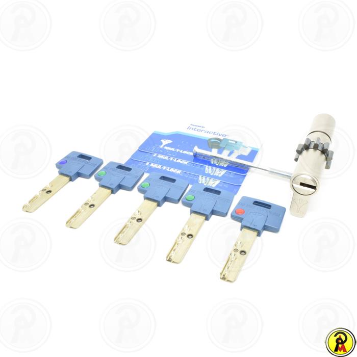 Cilindro Alta Segurança EURO 81 mm perfil 236S CWN Cromado Mul-T-Lock