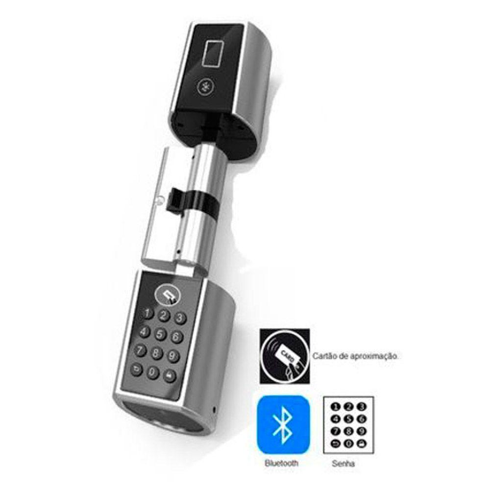 Cilindro Inteligente T2 Senha e App com Bluetooth Externo Titan Portas