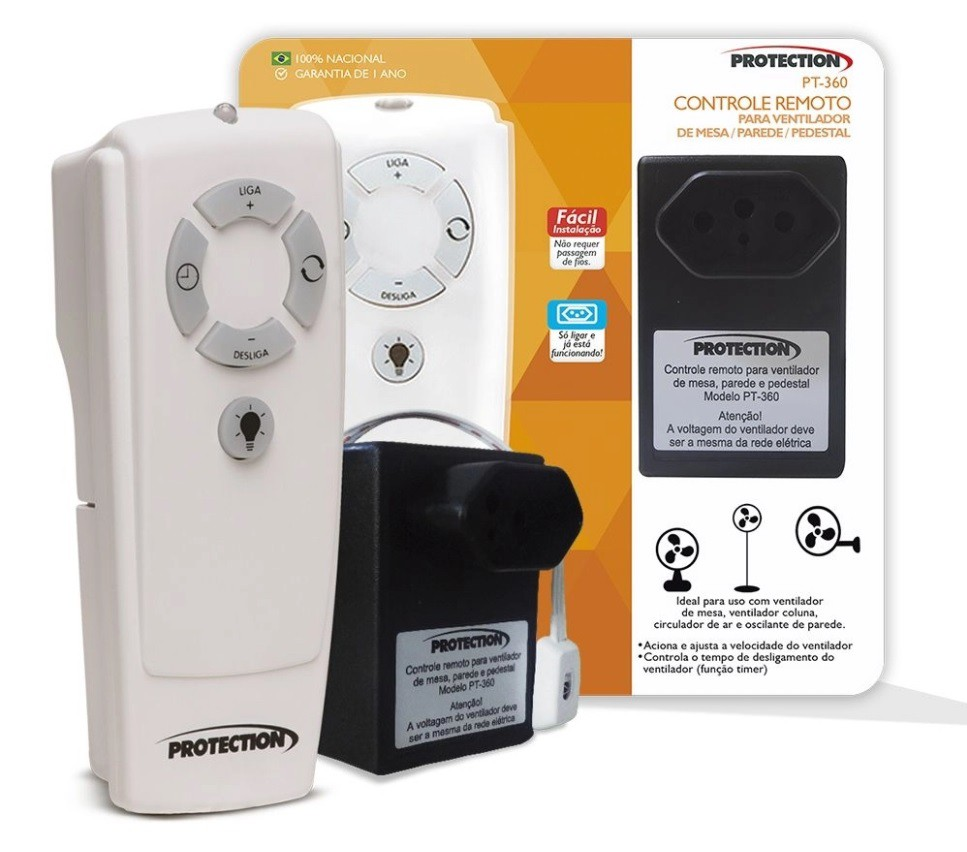 Controle Remoto para Ventilador de Mesa e Pedestal PT-360 Protection