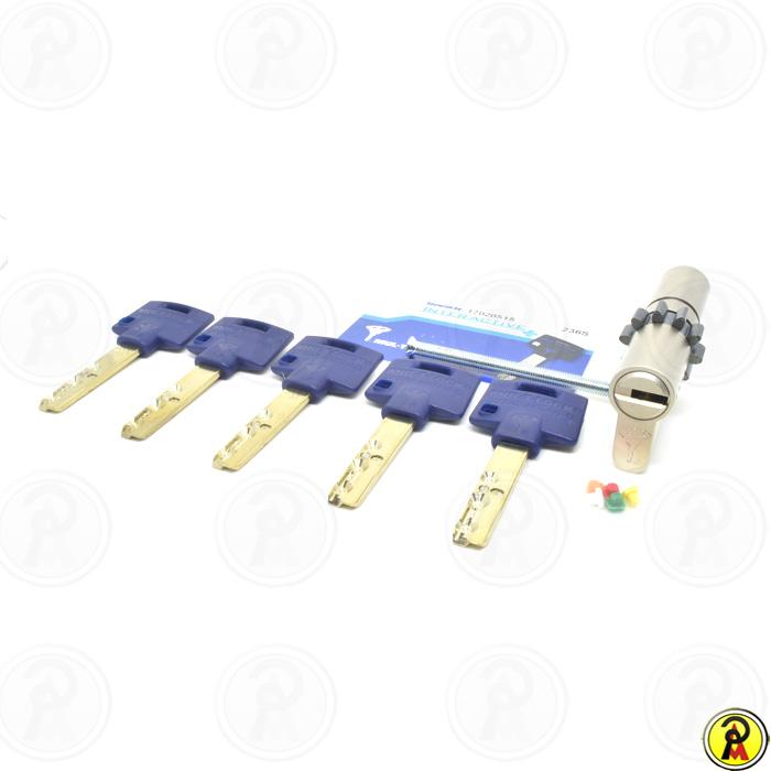 Cilindro de Alta Segurança EURO 76 mm perfil 236S CWN Cromado Mul-T-Lock
