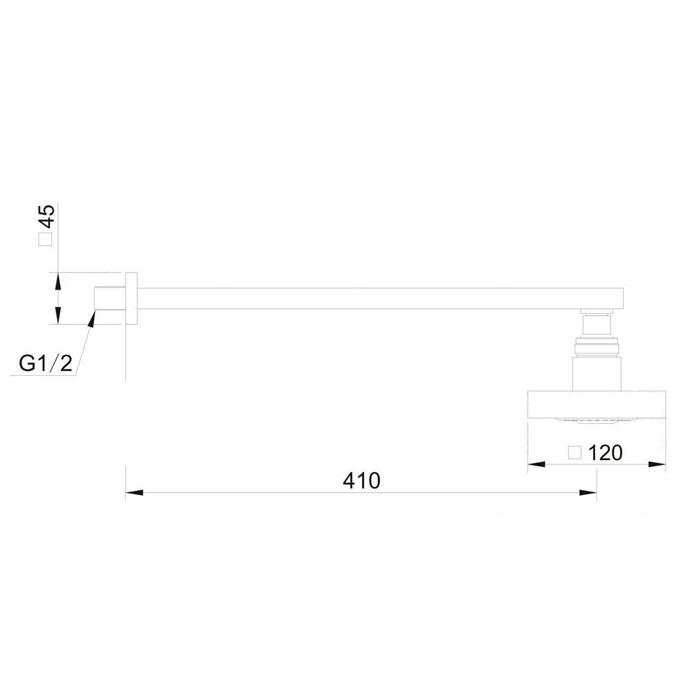 (Confirmar preço) Ducha com Haste Quadrado Jiwi WJ-0927