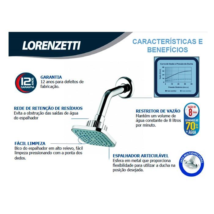 Ducha Fria Quadrada Lorenzetti Flatt 7004 F16