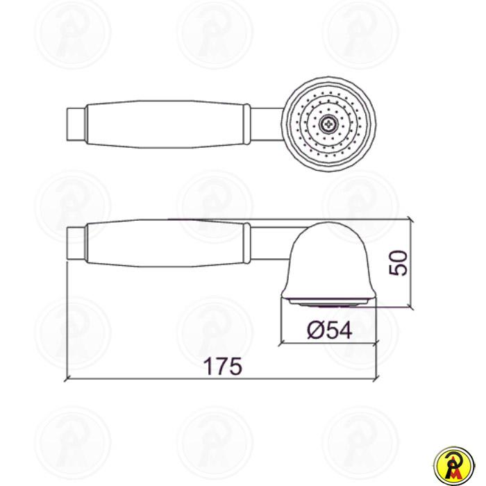 Ducha Manual com Desviador Lorenzetti Classic 4997 C16