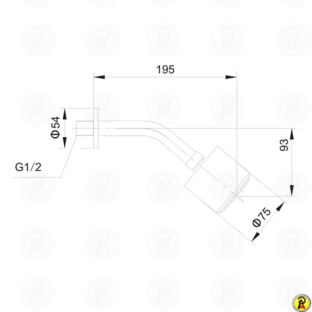 Ducha Simples Jiwi WJ-0804