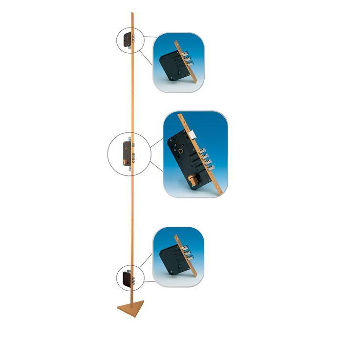 Fechadura de Alta Segurança Multiponto com Lingueta sem Cilindro Mul-T-Lock