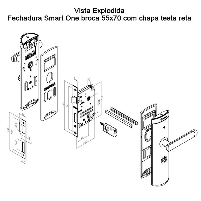 Fechadura Digital Smart On Preto Soprano