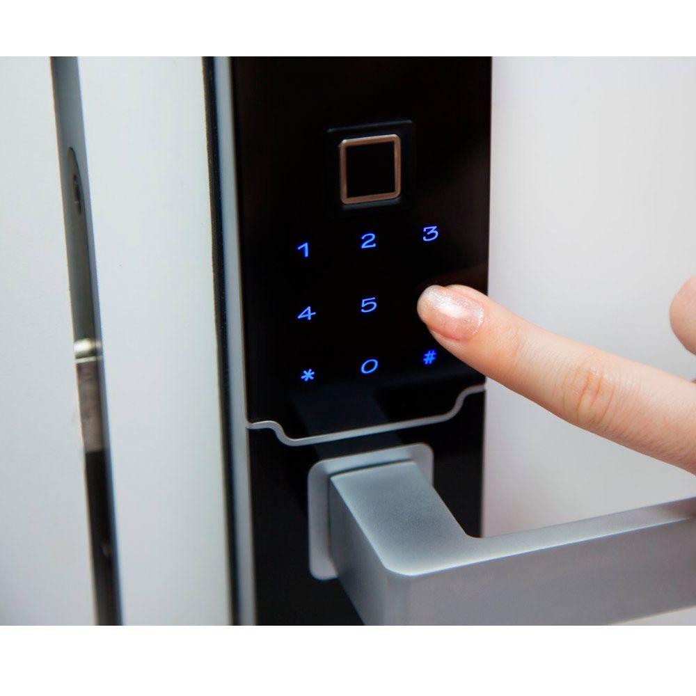 Fechadura Eletrônica IDUS 2 com Biometria e Senha Titan Portas