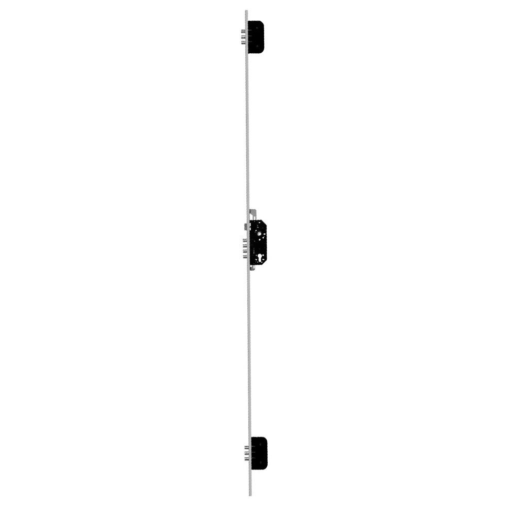 Fechadura Rolete Multiponto 10 Pinos Portas Pivotantes sem Cilindro F-P-3MFP-AL Fortezza