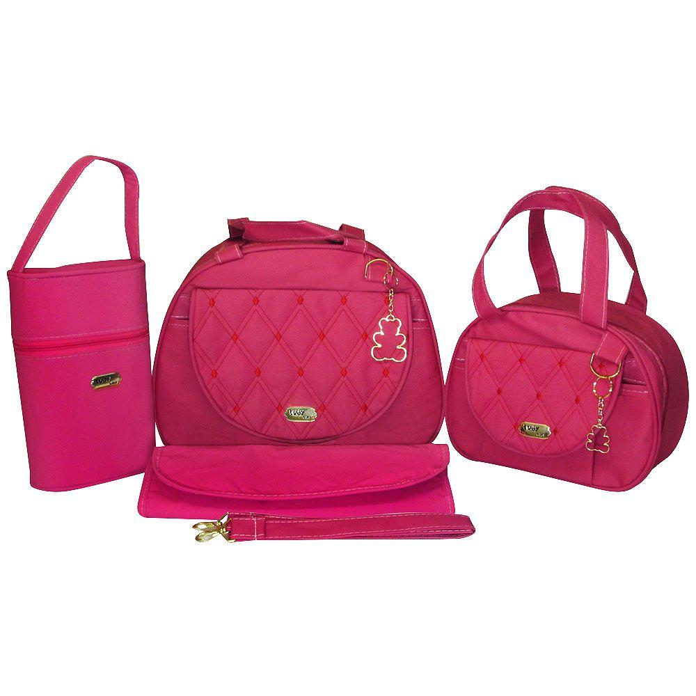 Kit Bolsa Maternidade Jokenpô Ludy Baby Bolso Pink