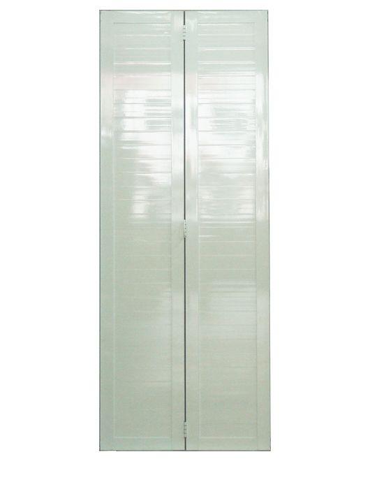 Kit Montado Porta Camarão Predial Lambril em Alumínio Branco Lux Esquadrias