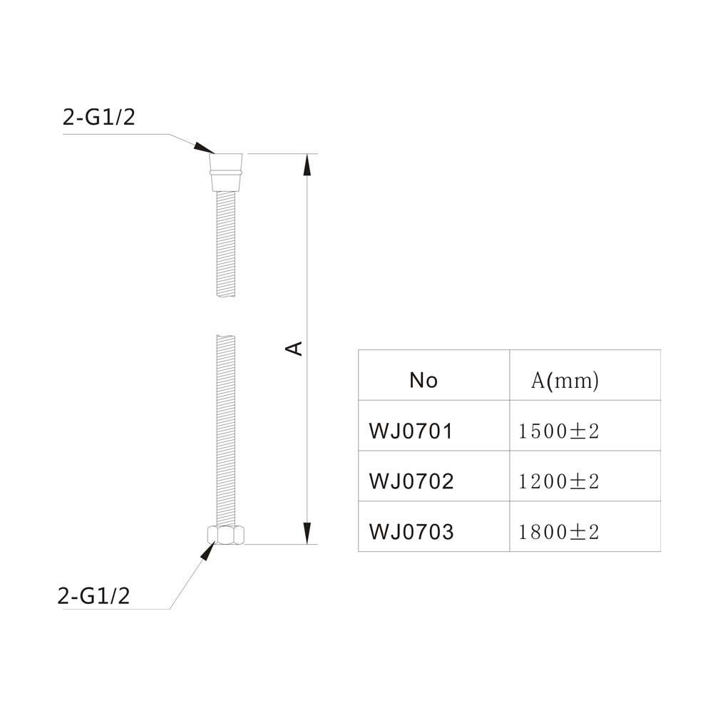 Mangueira flexível para ducha Jiwi WJ-0702  - Pinezi Compra Rápida