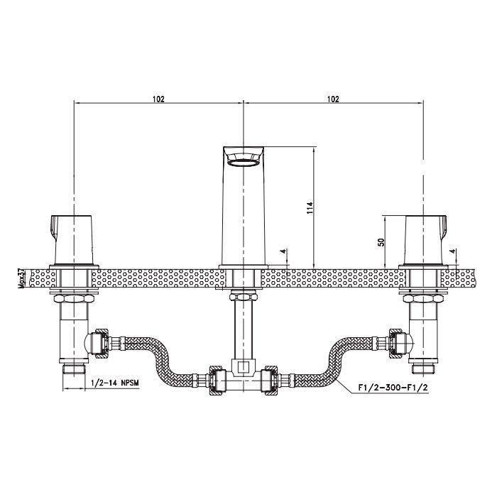 Misturador de Lavatório com Duplo Comando Trend Citrino TM 131500
