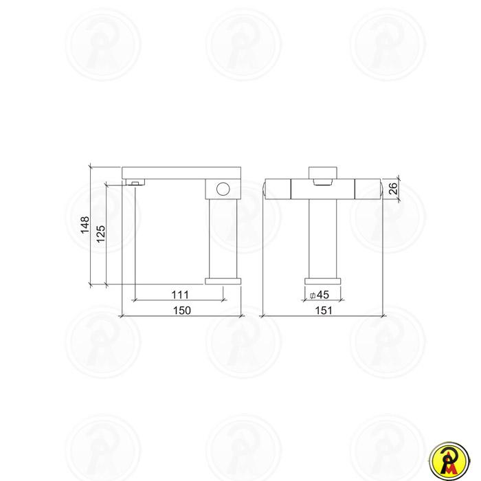 Misturador Monobloco para Lavatório de Mesa Lorenzetti LorenQuadra Plus 3875 C94
