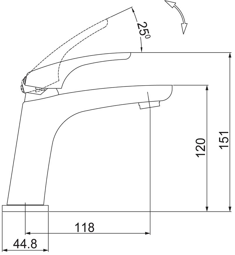 Misturador Monocomando Lavatório de Mesa em Nickel Lorenzetti 2875 N89