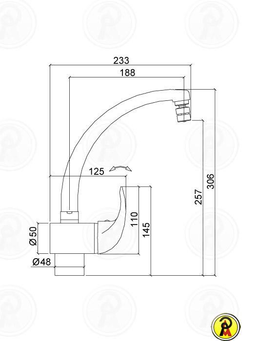 Misturador Monocomando para Cozinha Lorenzetti Allure 2257 C71