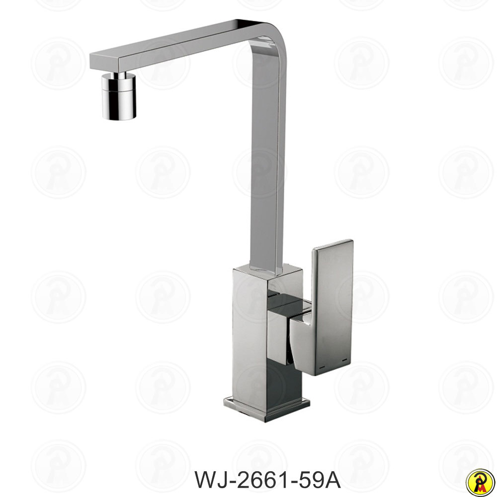 Misturador Monocomando de Cozinha de Mesa Bica Móvel Jiwi WJ-2661-59A