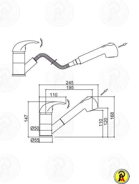 (Sob Consulta) Misturador Monocomando para Cozinha Lorenzetti Allure 2266 C71