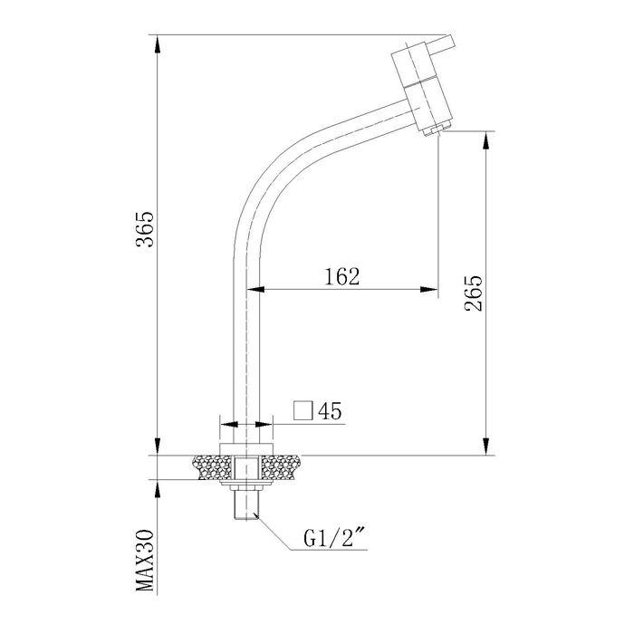 Misturador Monocomando para Lavatório Bica Alta Jiwi WJ-1028-221A