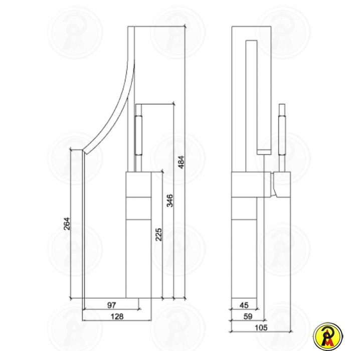 Misturador Monocomando para Lavatório de Mesa Bica Alta Lorenzetti LorenWave 2877 C77