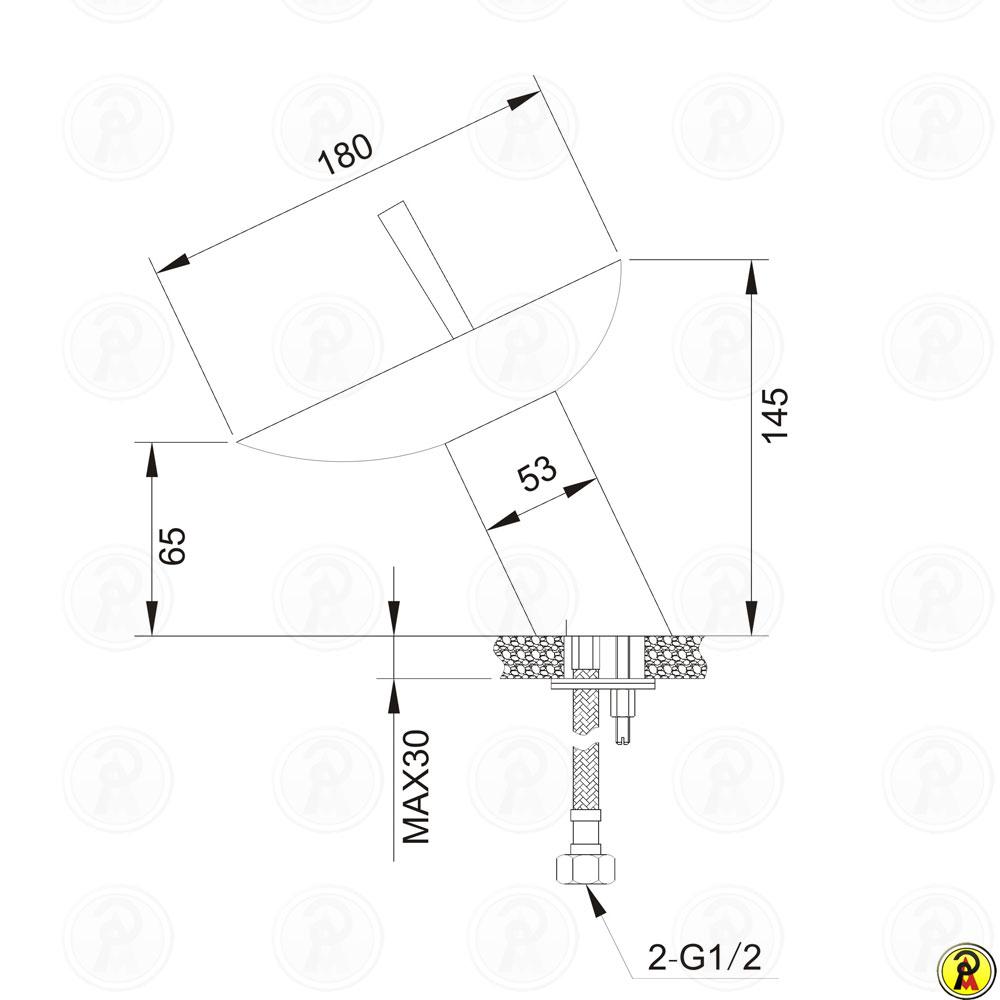 Misturador Monocomando Cascata Lavatório de Mesa Jiwi WJ-2521-29A