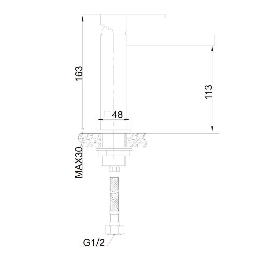 Misturador Monocomando para Lavatório de Mesa Jiwi WJ-2621-59A